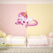 Adesivo Murale bambino bebè unicorno
