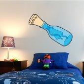 Adesivo Murale bambino bottiglia