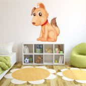 Adesivo Murale bambino cane