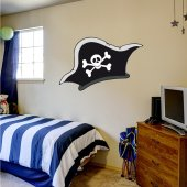Adesivo Murale bambino cappello pirata