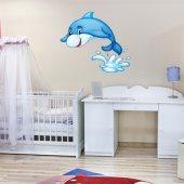 Adesivo Murale bambino delfino