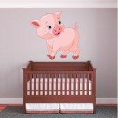 Adesivo Murale bambino maiale