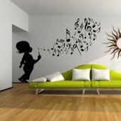 Adesivo Murale bambino musica