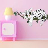 Adesivo Murale bambino tigre