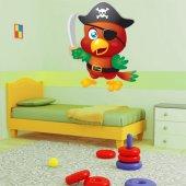 Adesivo Murale bambino uccello pirata