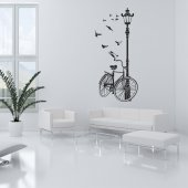 Adesivo Murale bicicletta Lampione
