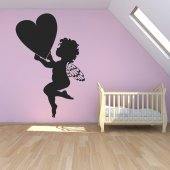Adesivo Murale cuore angelo