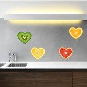 Adesivo Murale cuore frutta