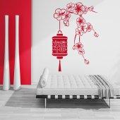Adesivo Murale fiore asia