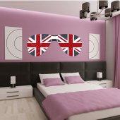 Adesivo Murale occhiali Inghilterra