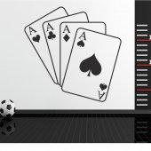 Adesivo Murale Poker d'assi