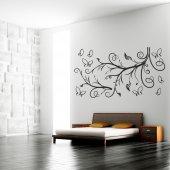 Adesivo Murale ramo farfalle