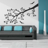 Adesivo Murale ramo fiorito