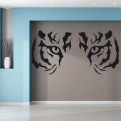 Adesivo Murale sguardo tigre