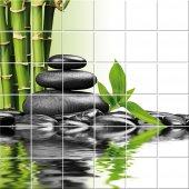 Adesivo per piastrelle bambù ciottoli
