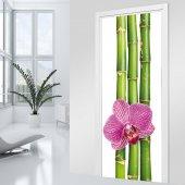 Adesivo per porte bambù