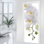 Adesivo per porte orchidea