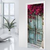 Adesivo per porte  porta fiorita