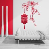 Asian Flower Wall Stickers