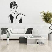 Autocolante decorativo Audrey Hepburn