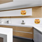 Autocolante decorativo hamburguesa
