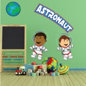 Autocolante decorativo infantil astronautas
