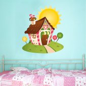 Autocolante decorativo infantil casinha