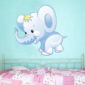 Autocolante decorativo infantil elefante