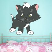 Autocolante decorativo infantil gato