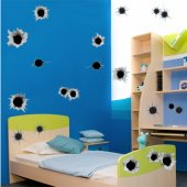 Autocolante decorativo infantil tiros