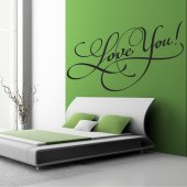 Autocolante decorativo love you