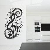 Autocolante decorativo nota musical