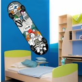 Autocolante decorativo skate