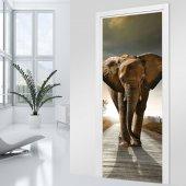 Autocolante para porta Elefante