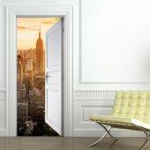 Autocolante para porta Manhattan