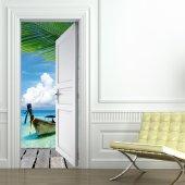 Autocolante para porta tropics