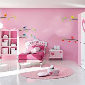 birds on branch Set Wall Stickers