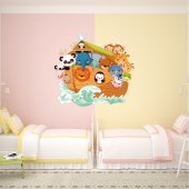 Boat Animals Wall Stickers