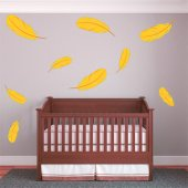 Feather Set Wall Stickers