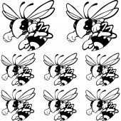 Frelon hornet Aufkleber-Set