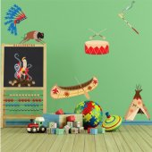 Indian Set Wall Stickers