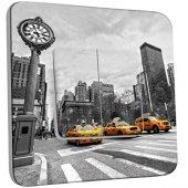 Interrupteur Décoré double va et vient New York Black&White Taxis