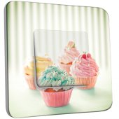 Interrupteur Décoré Simple 4 Cupcake