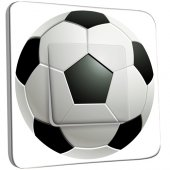 Interrupteur Décoré Simple Ballon de foot Black&White 2