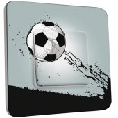 Interrupteur Décoré Simple Ballon de foot Design 1
