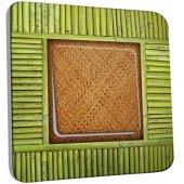 Interrupteur Décoré Simple Bambou 3