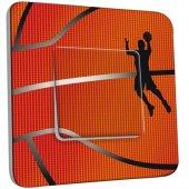 Interrupteur Décoré Simple Basket-Ball Zoom