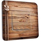 Interrupteur Décoré Simple bois marin