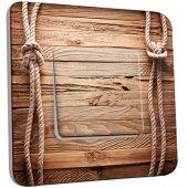 Interrupteur Décoré Simple bois marin cordes