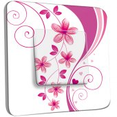 Interrupteur Décoré Simple Fleurs Abstraits Roses 3